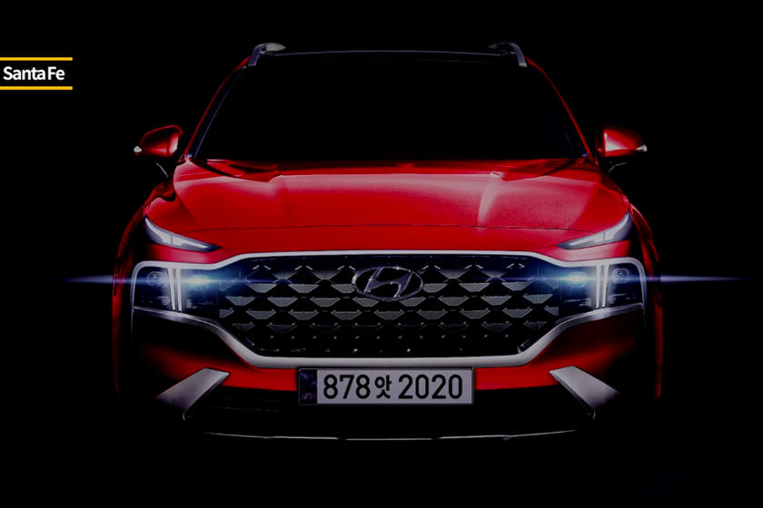 2021 Hyundai Santa Fe shown with new red paint