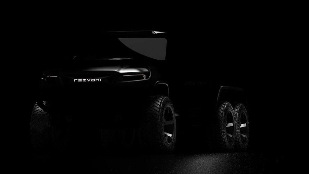 Rezvani Hercules 6x6 truck shadowed