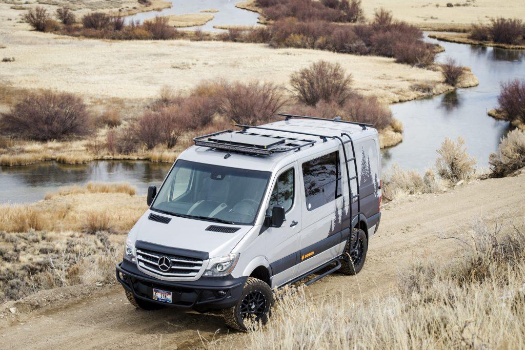 A Sync Vans conversion on a Mercedes Sprinter van