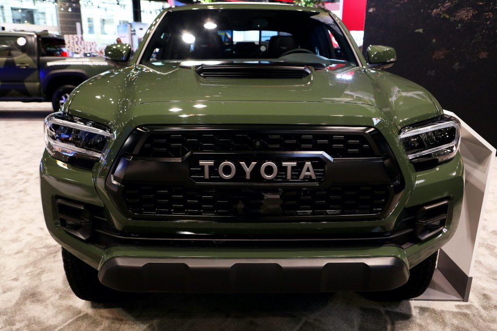2020 Toyota Tacoma is on display at the 112th Annual Chicago Auto Show