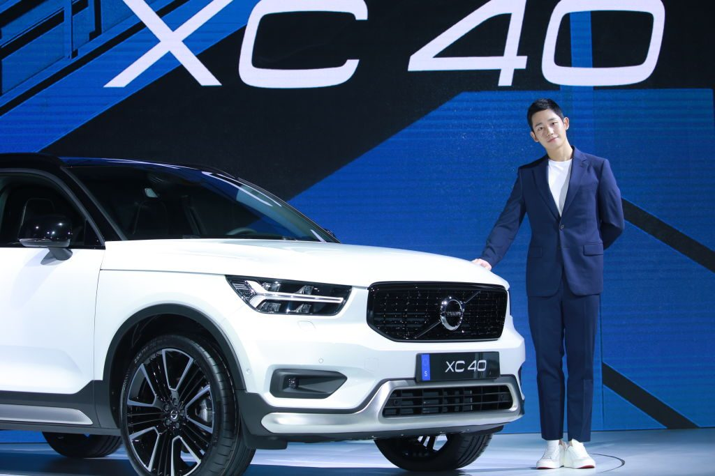 South Korean actor Jung Hae-in attends the launch of Volvo XC40