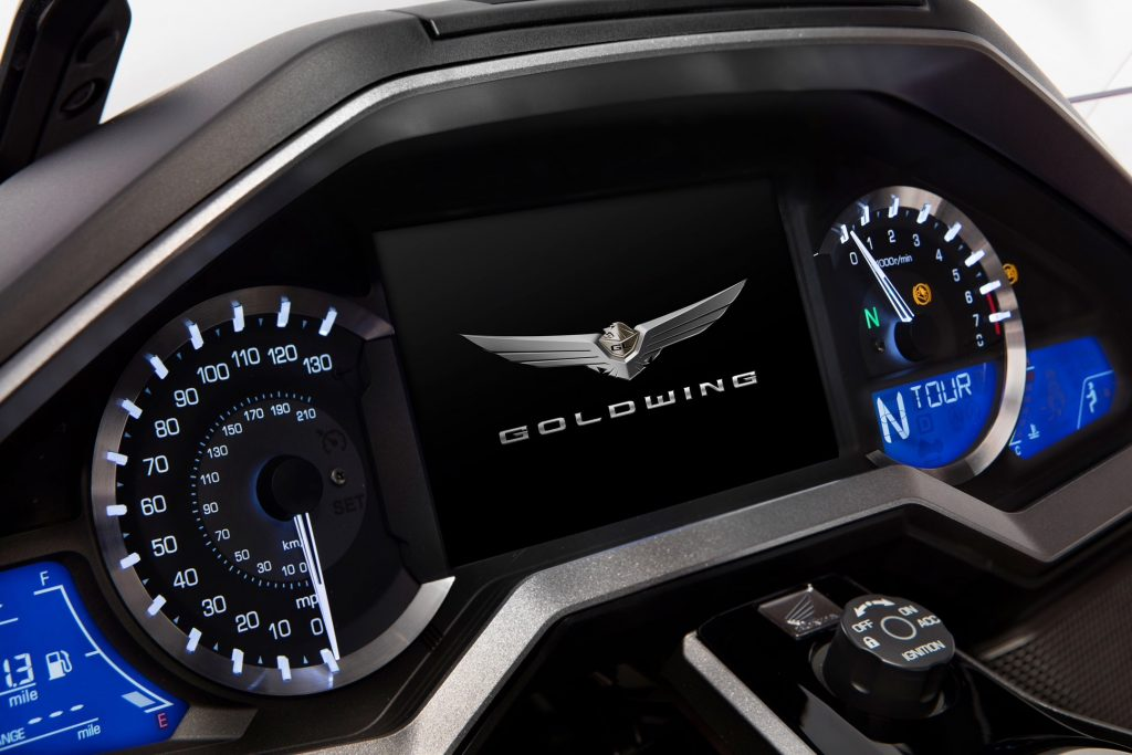 Honda Gold wing dash display is modern and user friendly