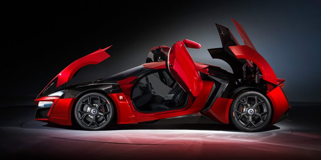Lykan Hypersport with doors open