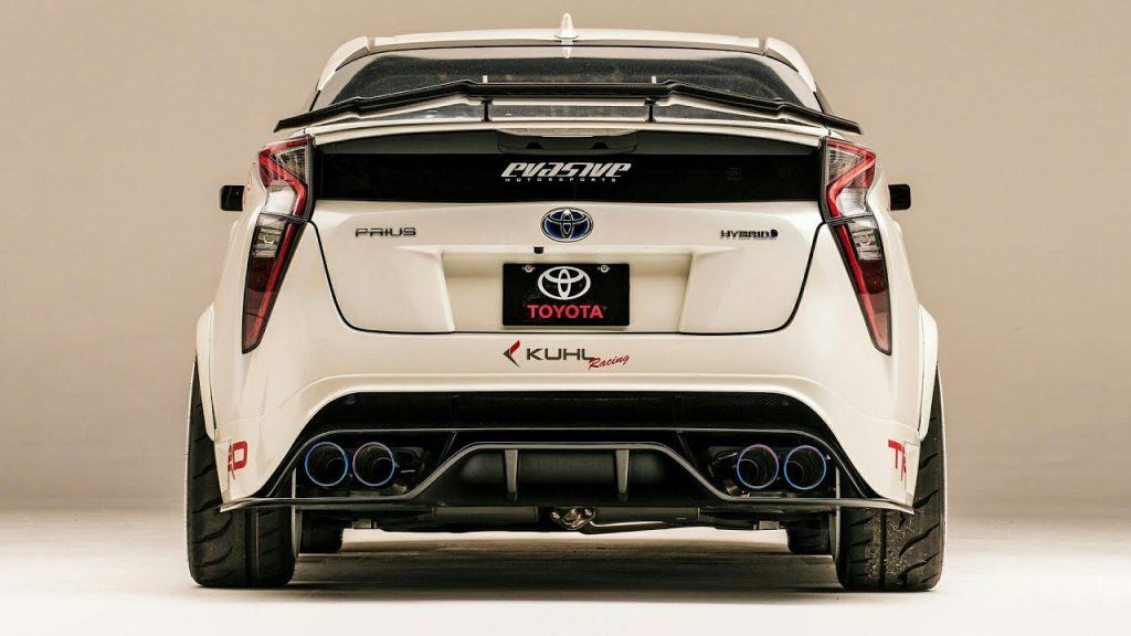 a rear shot of the modified Prius G