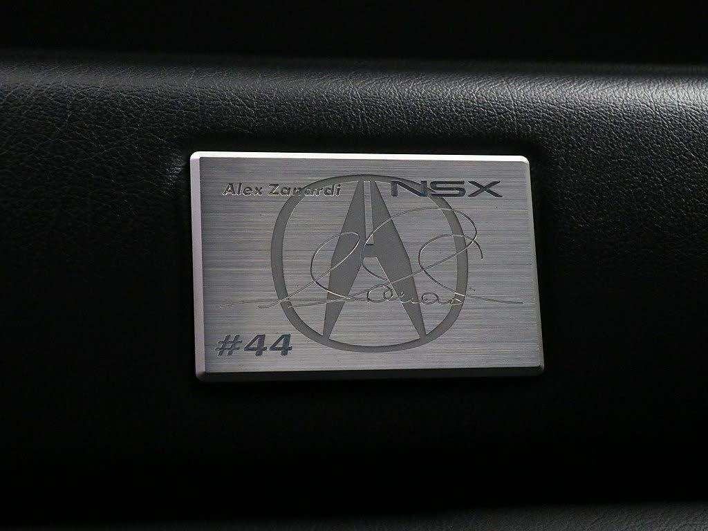 zanardi edition nsx plaque
