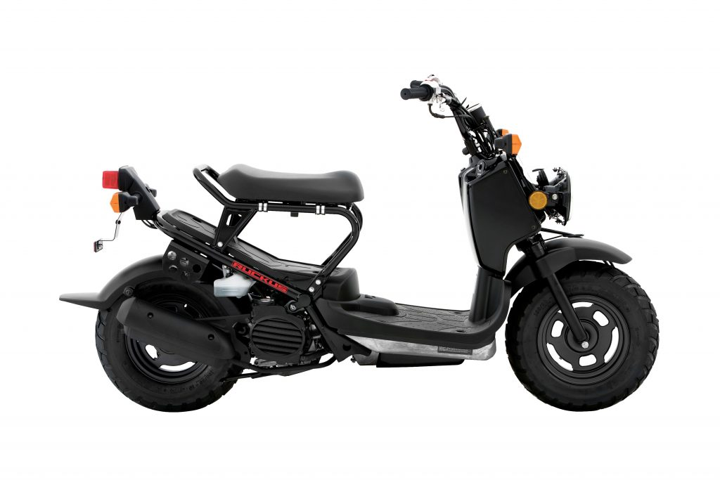 honda ruckus in black