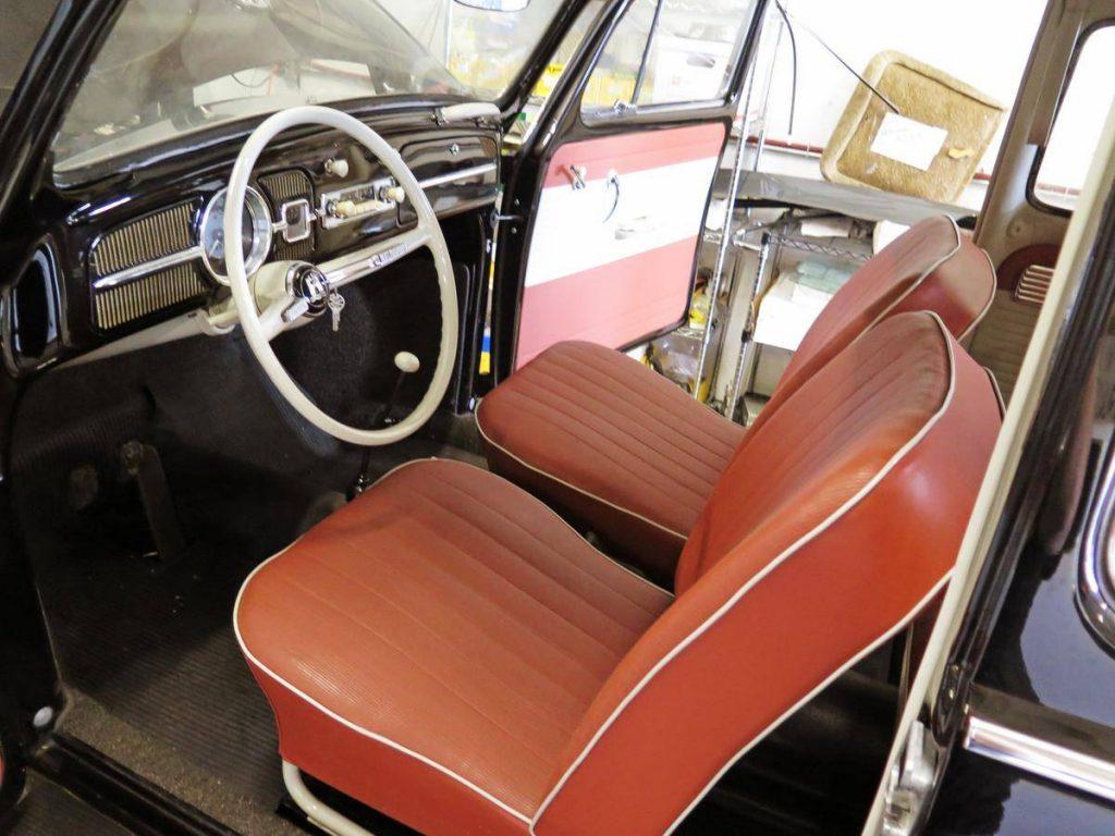 23-mile 1964 Volkswagen beetle red interior