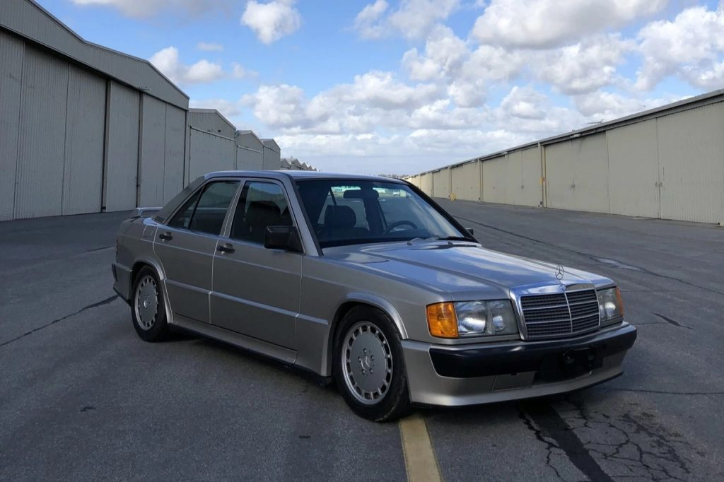 A tan 1986-Mercedes-Benz-190E-2.3-16 sedan