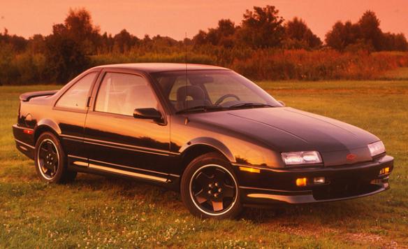 sunset shot of 1990 Chevy Beretta