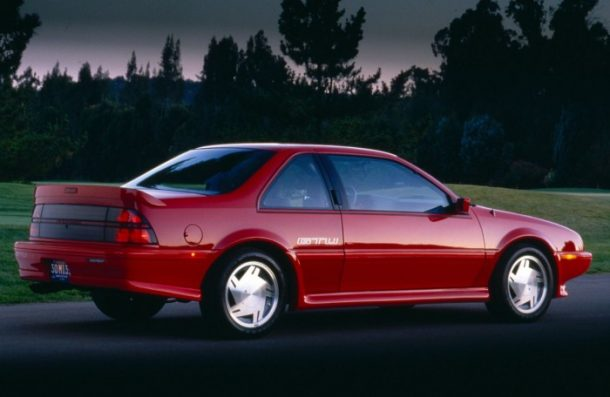 red 1990 Chevy Beretta coupe