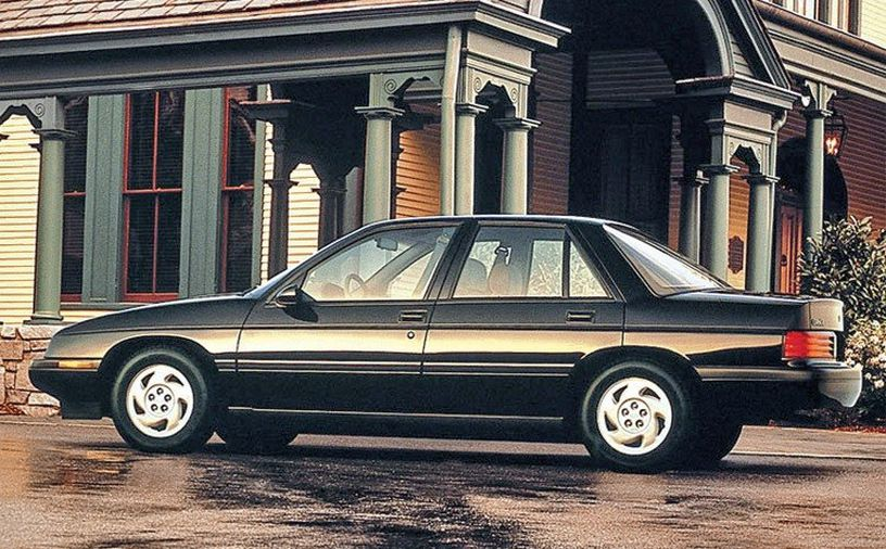 black 1988 chevy corsica