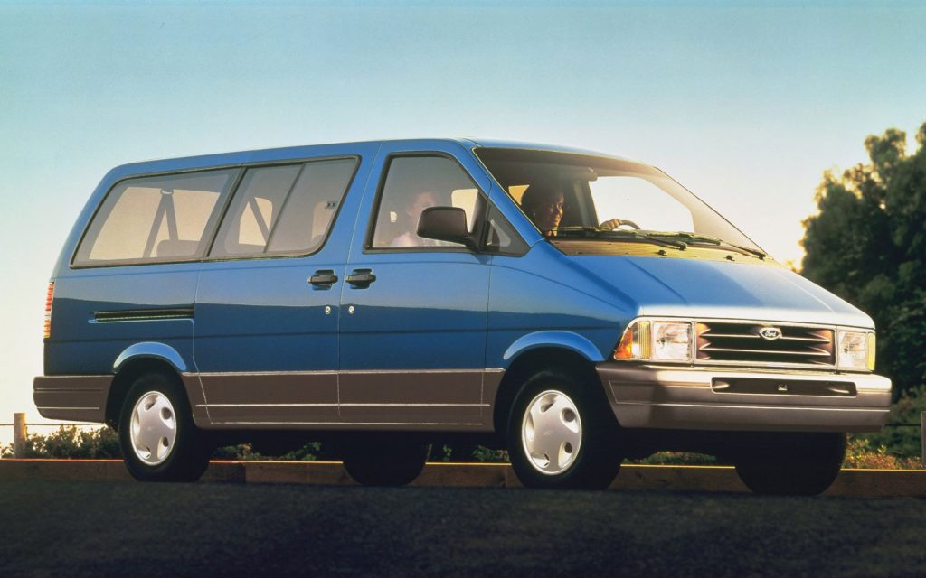 Ford Aerostar is a great big used van, here is a 1996 one in bright blue