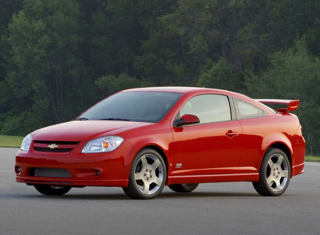 A red 2006 Chevrolet Cobalt SS coupe