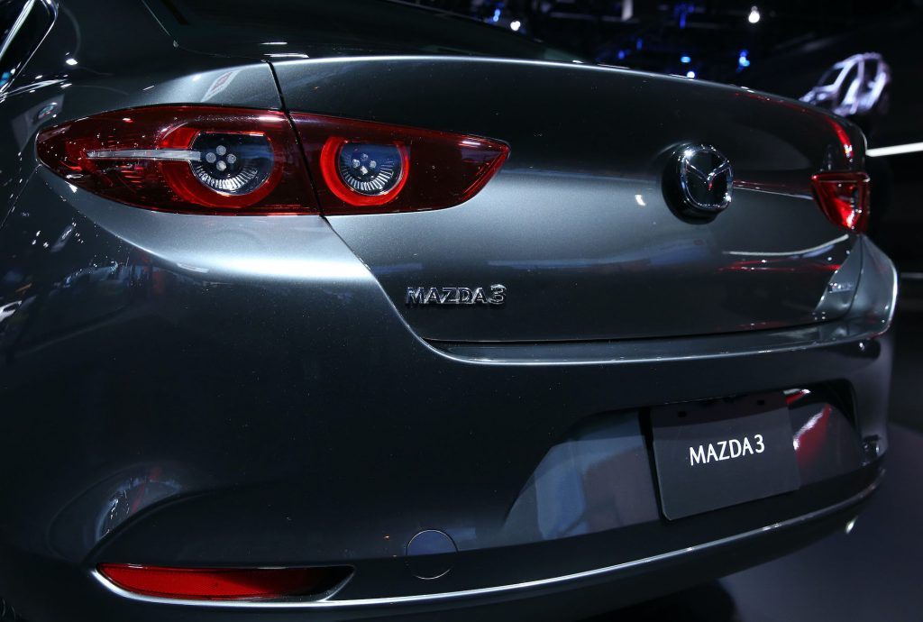 A general view of the all-new Mazda3 is seen during the L.A. Auto Show