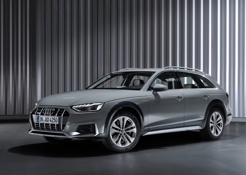 Gray 2020 Audi A4 Allroad wagon