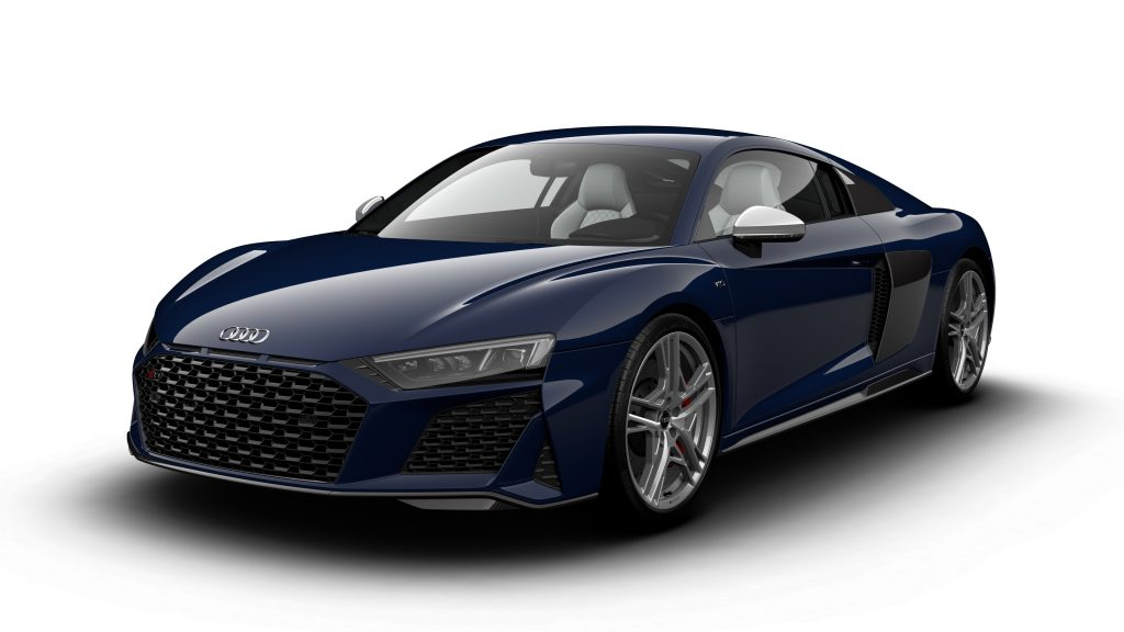 Audi R8 V10 Limited Edition in Mugello Blue front