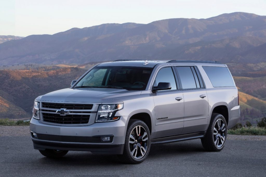 2020 Chevy Suburban in the mountains is a popular Chevrolet SUV for families