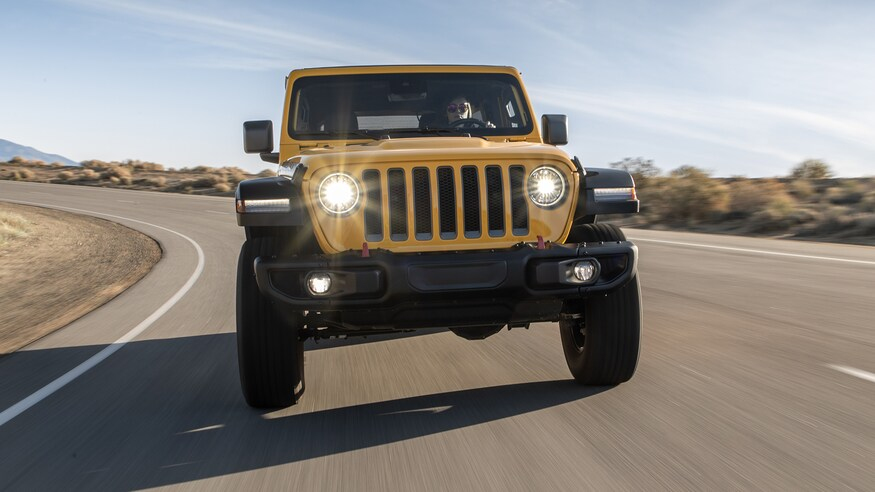 2020 Jeep Wrangler Unlimited driving on road