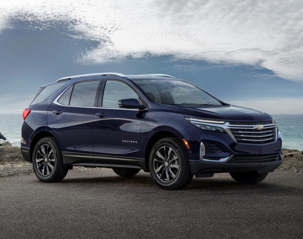 the 2021 Chevy Equinox in an outdoor press photo
