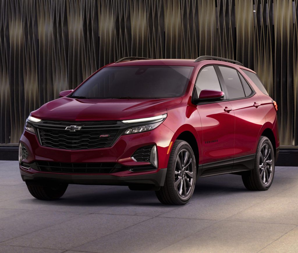 2021 Chevy Equinox on display