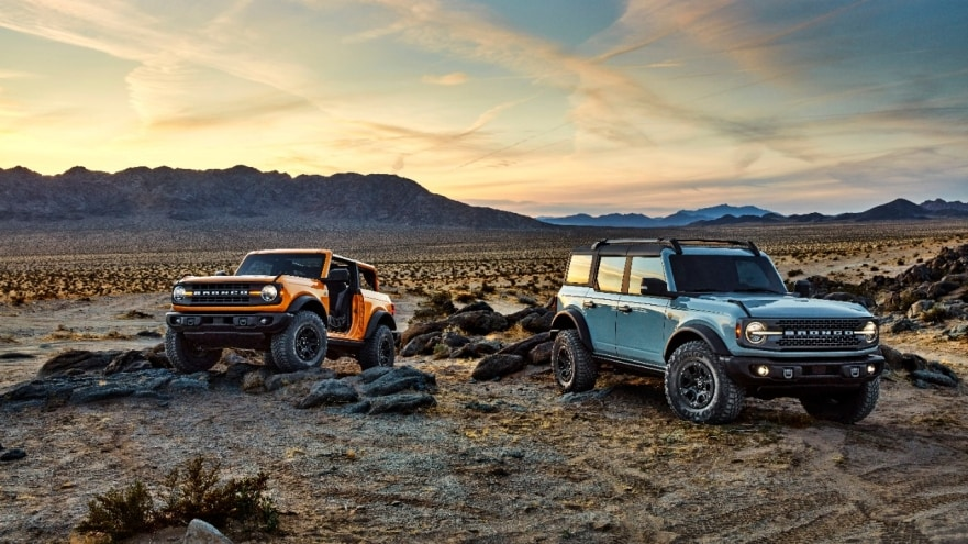 2-door and 4-door 2021 Broncos are ready for the wild and equipped for climbing
