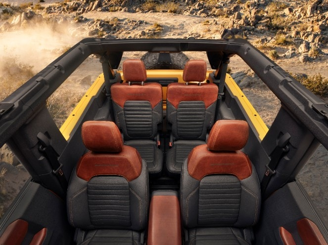 overhead shot of interior 2021 Ford Bronco