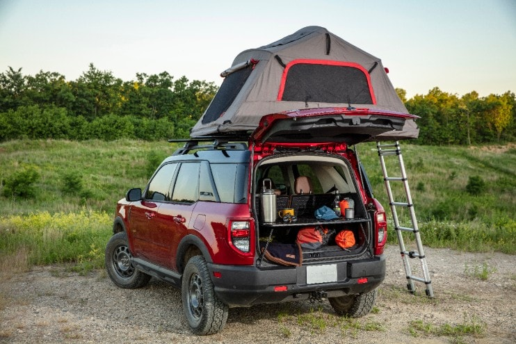 Bronco Sport with roof top camping