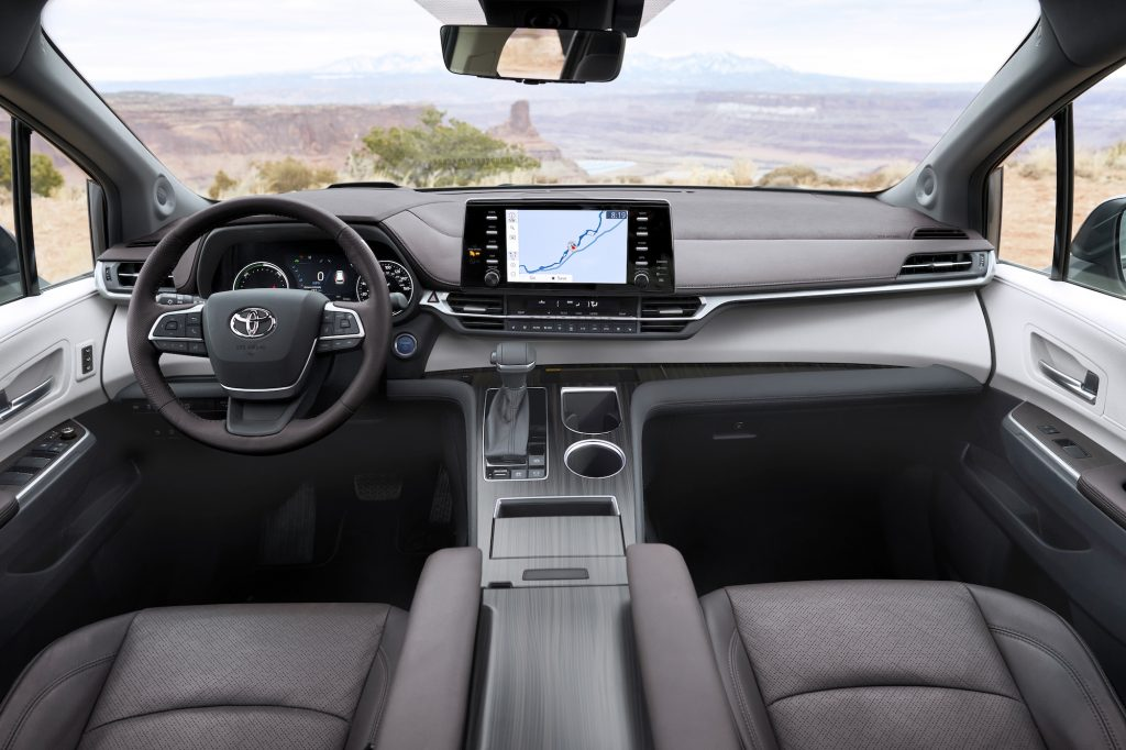 The sleek interior of the all new Toyota Sienna boasts awesome new features