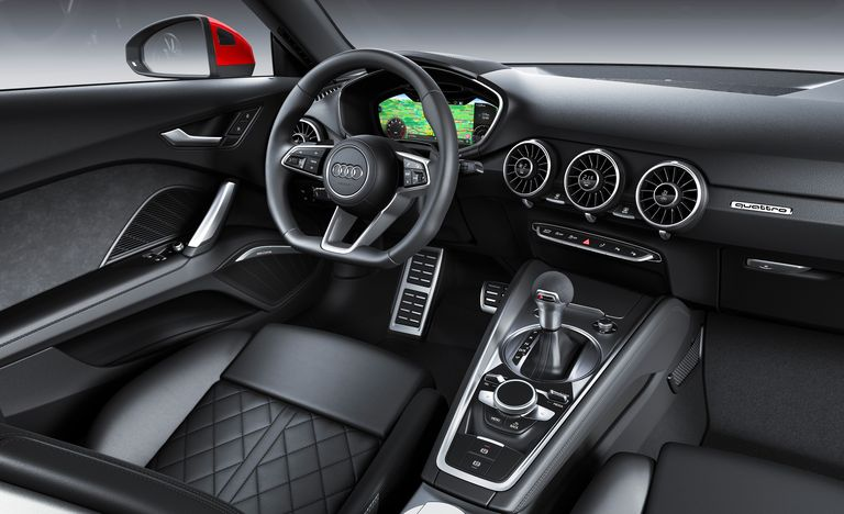 The Audi TT coupe is known for its clean interior design.