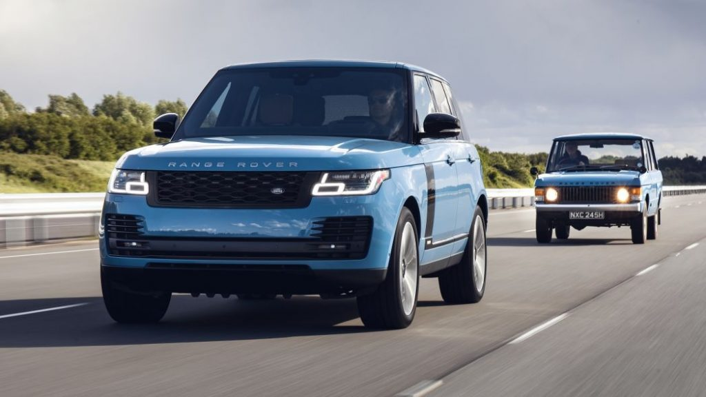 2021 Range Rover Fifty Edition driving on road