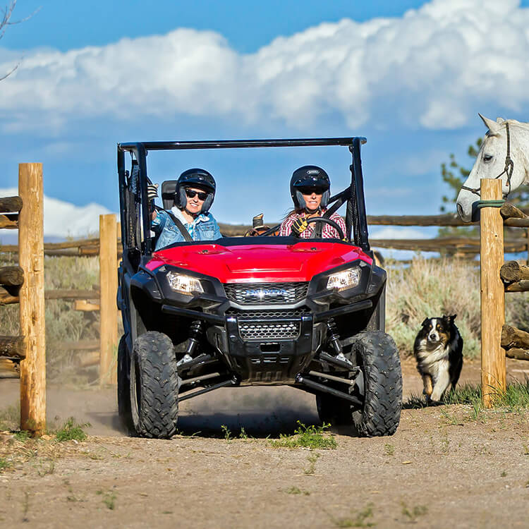 The Honda Pioneer isn't meant to be street legal, but it can be adjusted for on road regulation