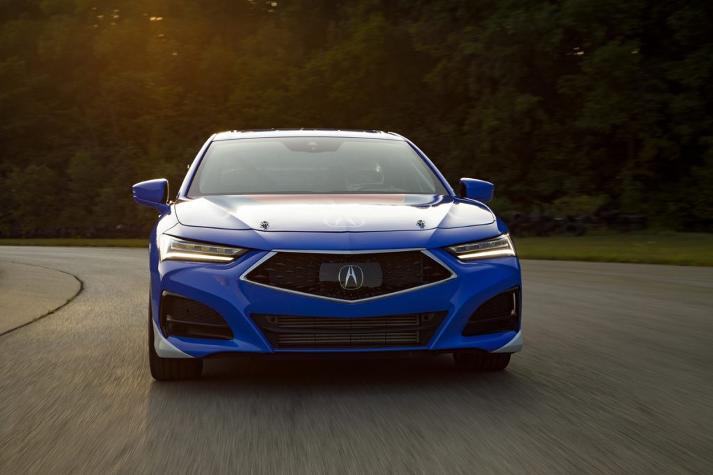 front shot of 2021 tlx type-s