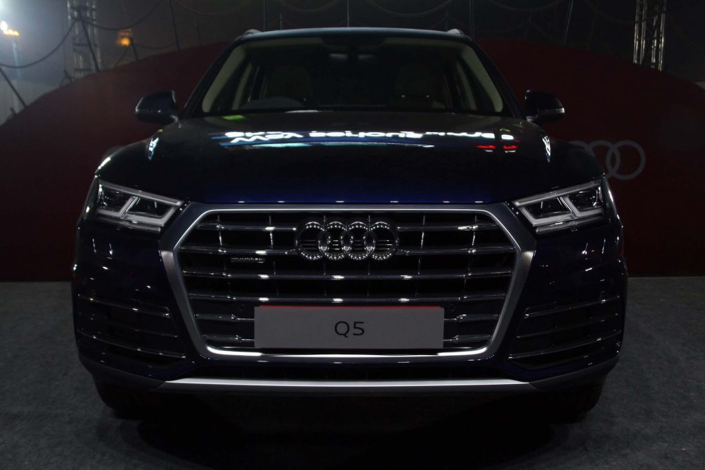Newly launched Audi Q5 displayed at GMR Grounds, Aerocity