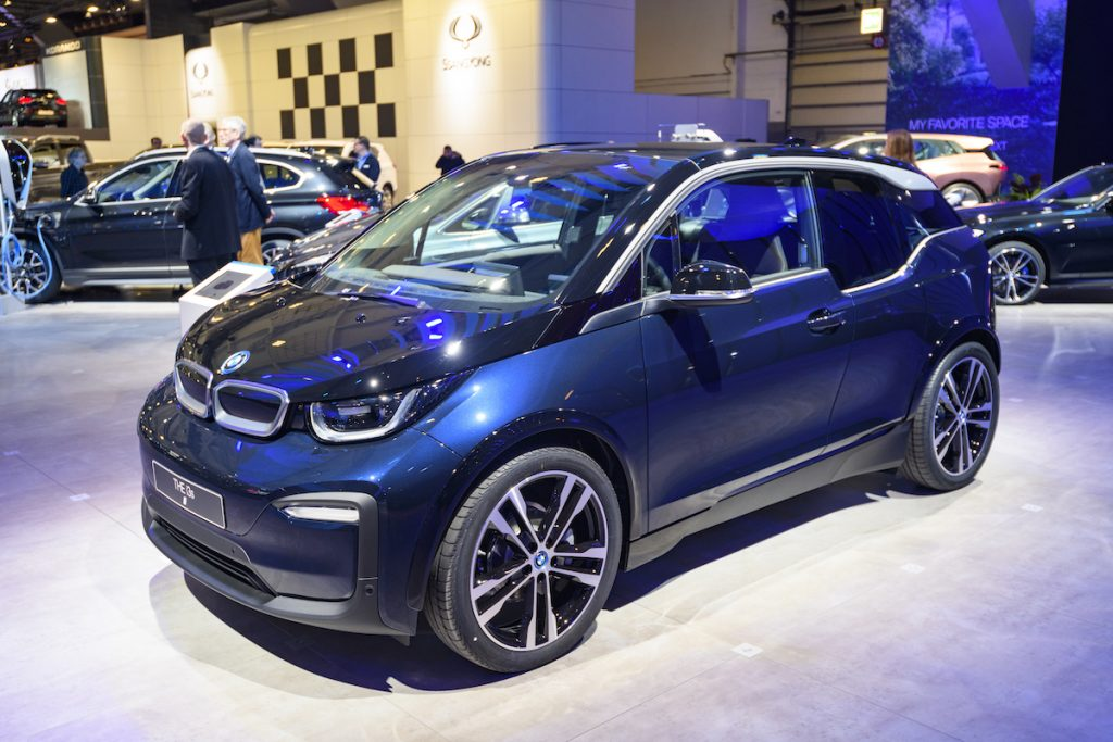 BMW i3 on display at the 98th European Motor Show