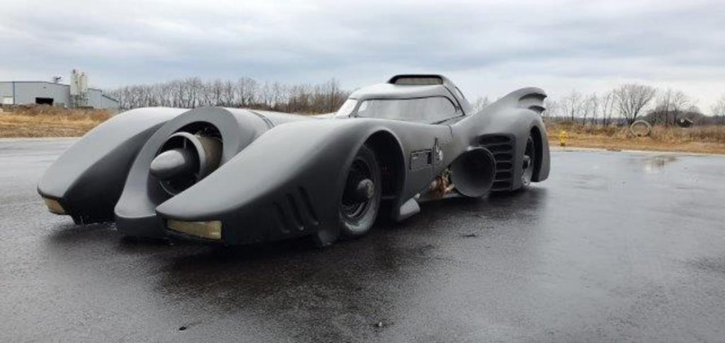 A replica of the Tim Burton Batmobile movie car | Skipco Auto Auction