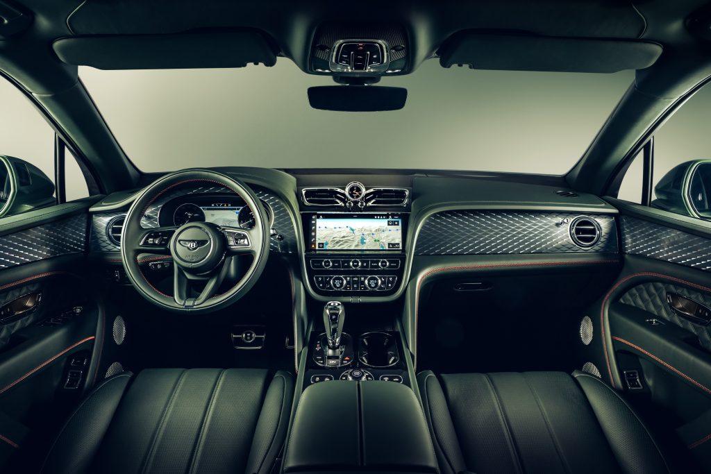 dash view of the Bentley Bentayga interior