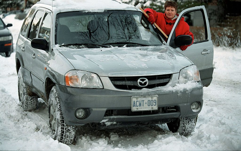Mazda Tribute being tested in snow