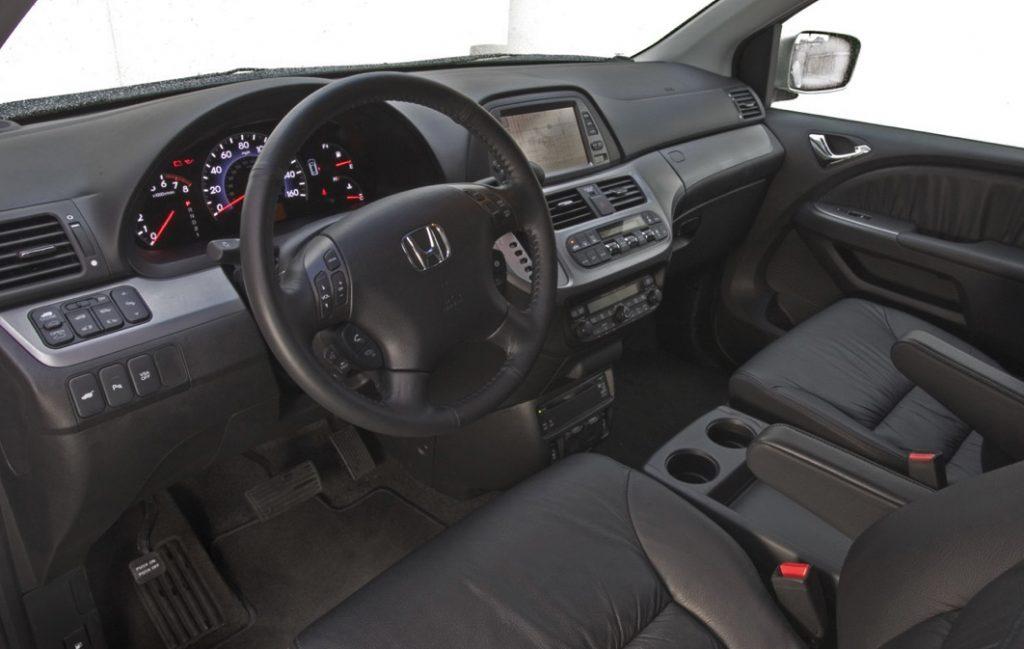 2008 model year used Honda odyssey dash view