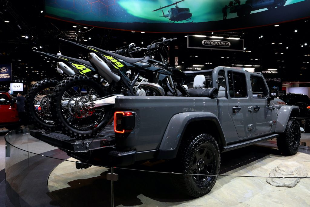 2020 Jeep Gladiator Sport is on display at the 112th Annual Chicago Auto Show