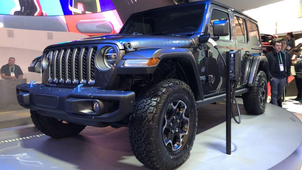 Jeep Wrangler 4XE on display