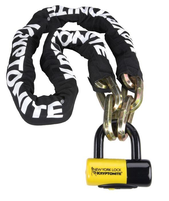 The steel Kryptonite New York Fahgettaboudit chain disc lock