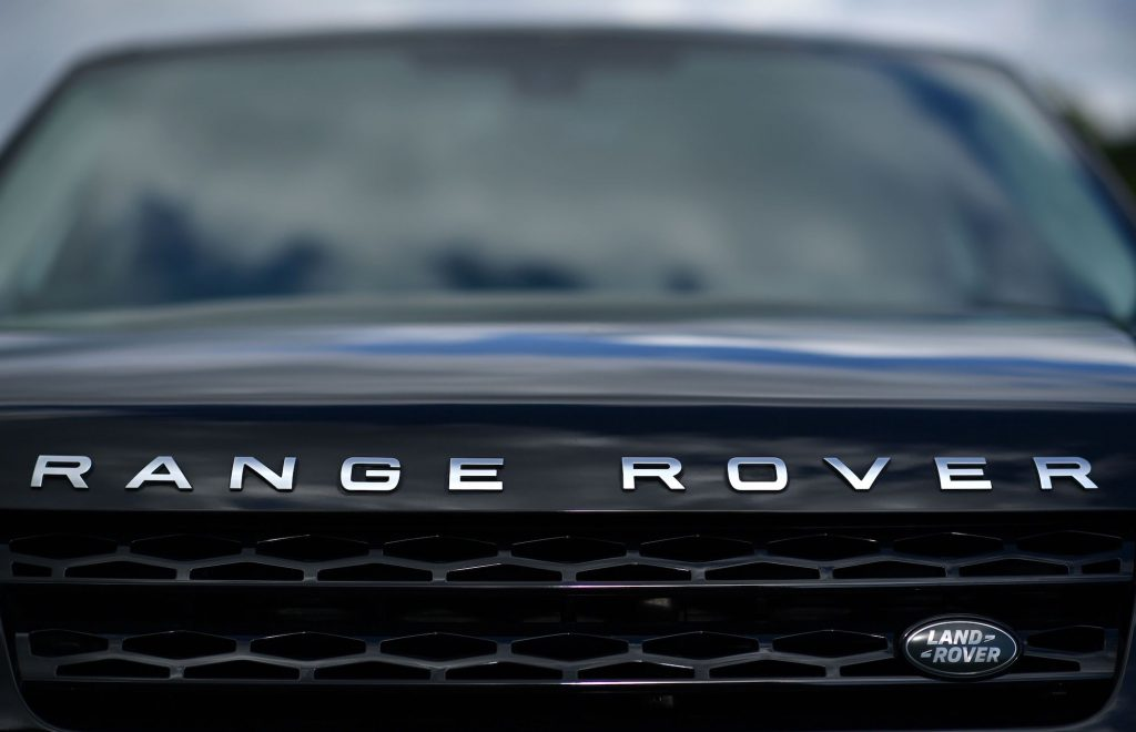 A new Range Rover car is pictured on the forecourt of a Jaguar Land Rover new car show room in Tonbridge