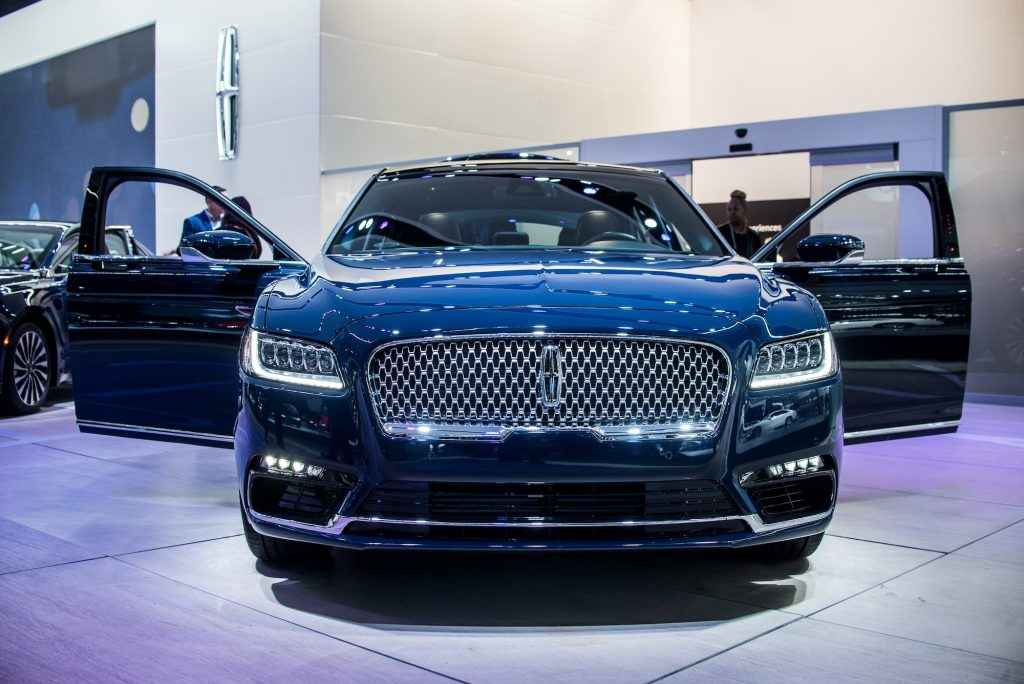 Lincoln MKZ is on display during North American International Auto Show at Cobo Center