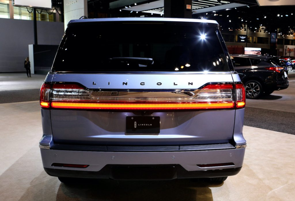 2020 Lincoln Navigator – a cousin of the Ford Expedition – is on display at the 112th Annual Chicago Auto Show