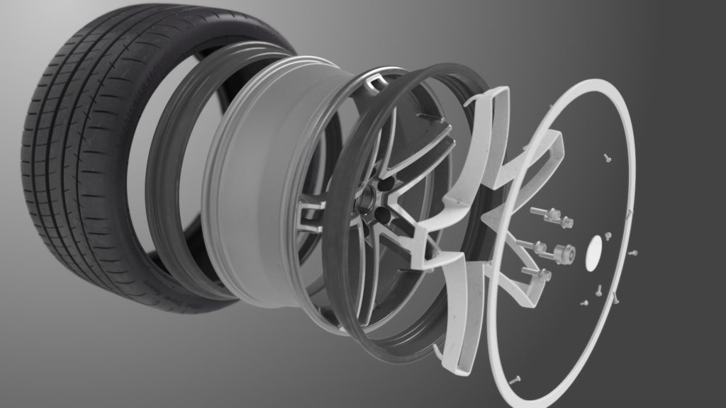 break down of michelin/Maxion flexible wheel and tire