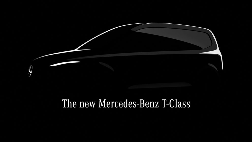 A silhouette of a new minivan from Mercedes, the T-Class
