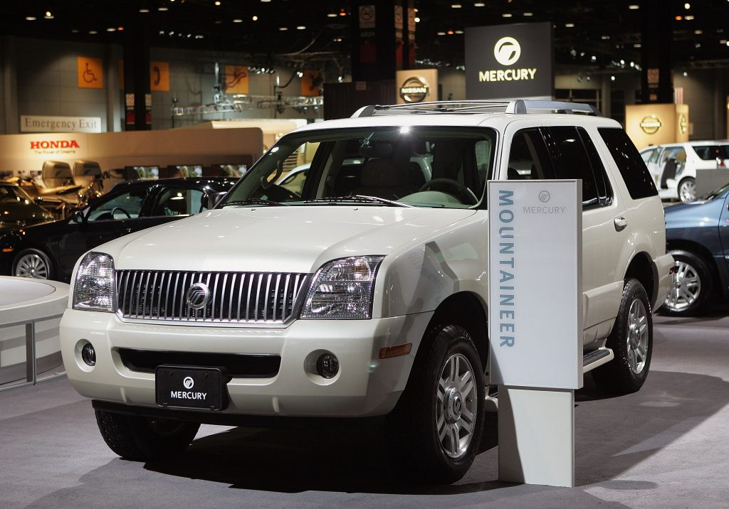 A Mercury Mountaineer on display at an auto show