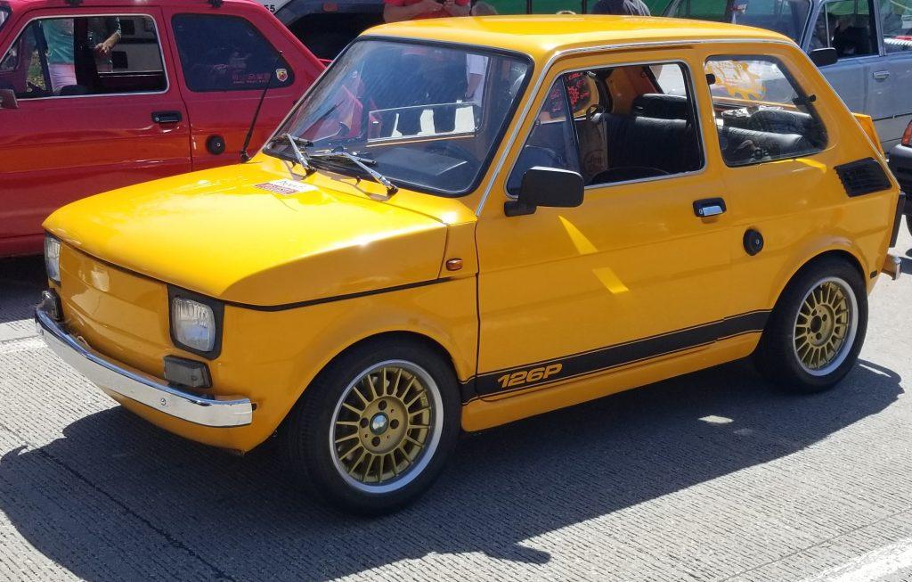 Modified yellow Fiat 126p
