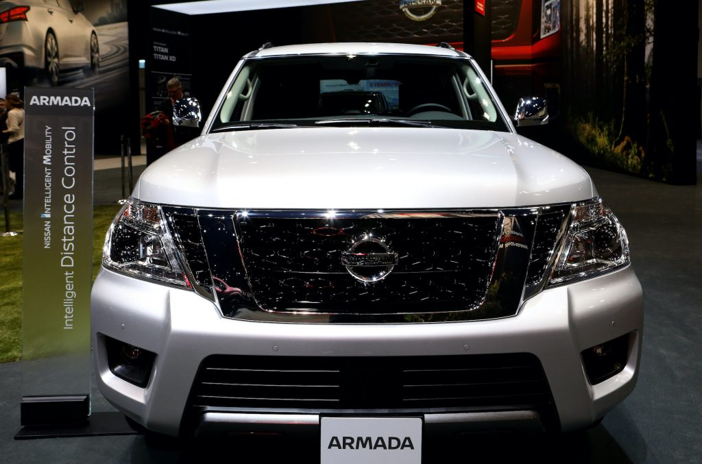 2019 Nissan Armada is on display at the 111th Annual Chicago Auto Show