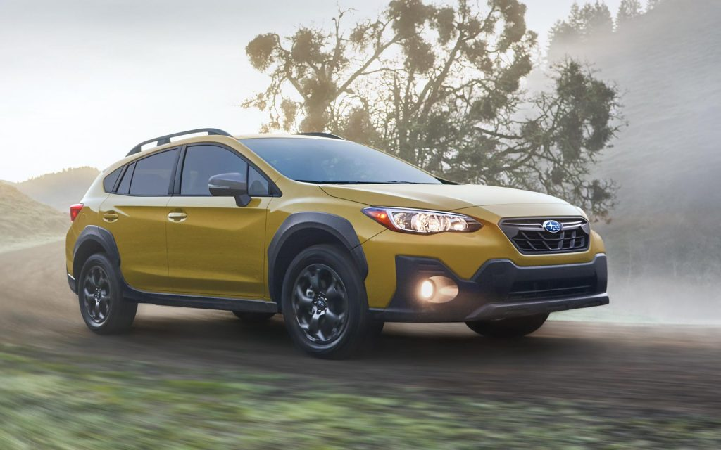2021 Subaru Crosstrek driving on road